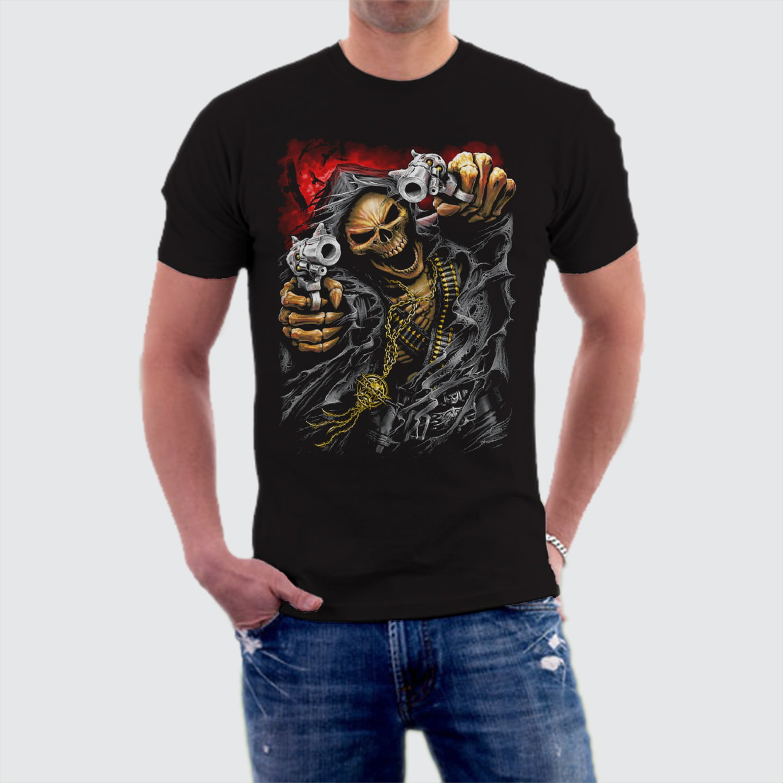 Camiseta Caveira Armed Skull