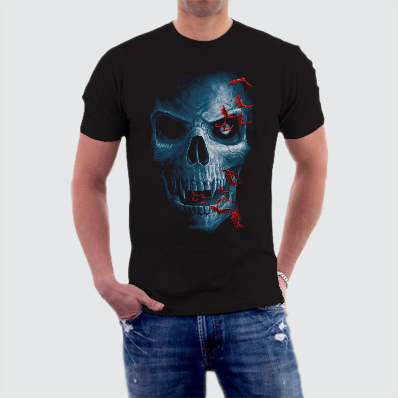 Camiseta Caveira Skull Bats