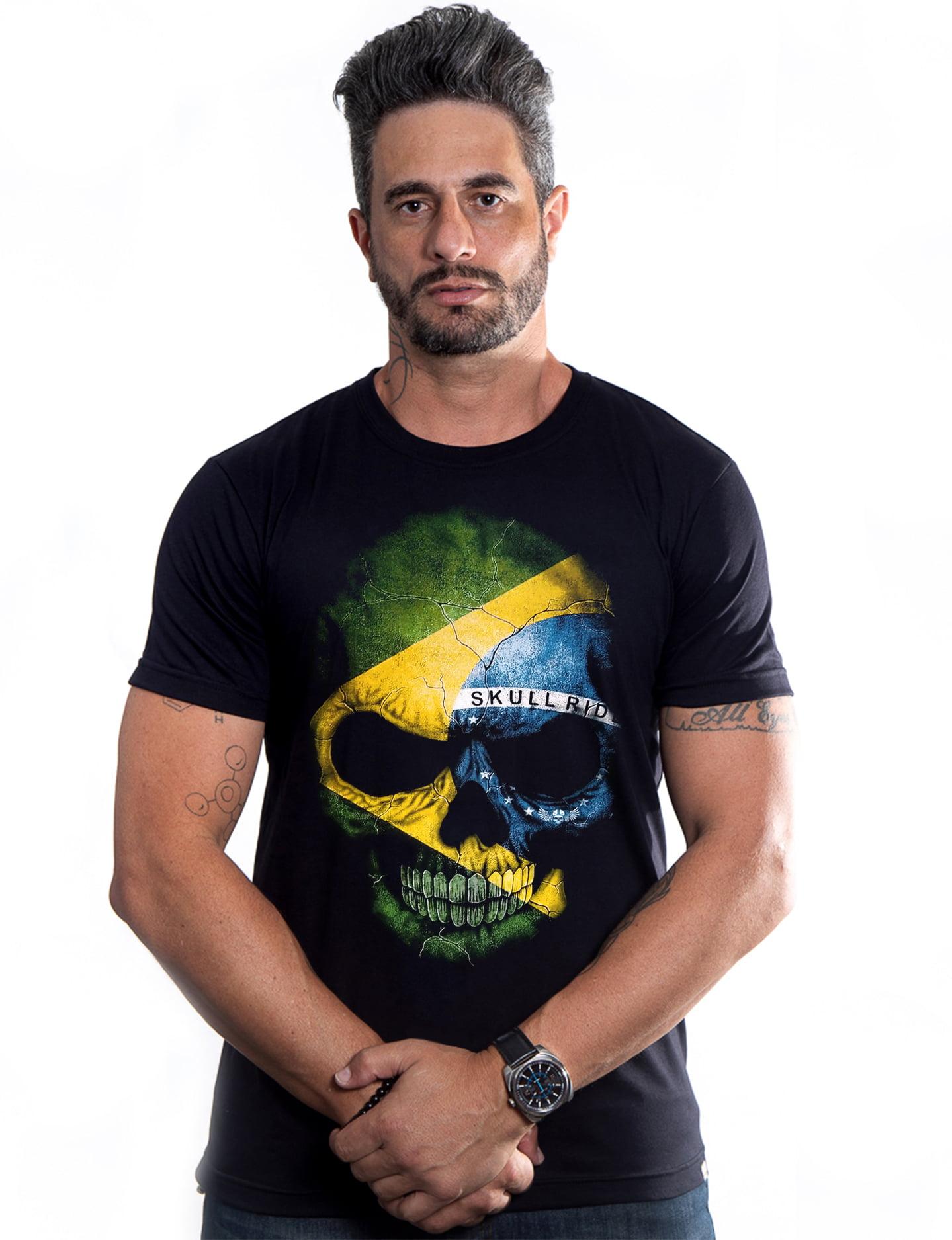 Camiseta Caveira Brasil Skull Ride
