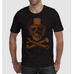 Camiseta Caveira Mechanic Skull PO