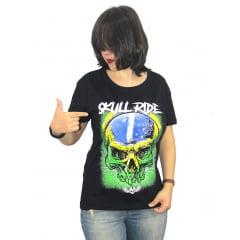 Babylook Patriotic Brazilian Skull (caveira brasileira patriota)