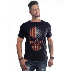 Kit 3 camisetas caveira + bracelete Skull