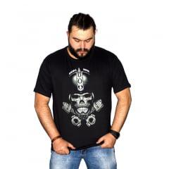 Camiseta Plus Size Helmet Skull M-2