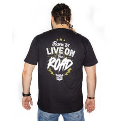 Camiseta Plus Size LIVE ON THE ROAD