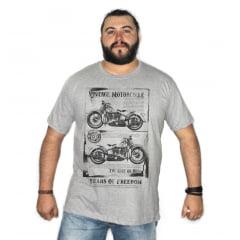 Camiseta Plus Size Motorcycle Vintage M-1